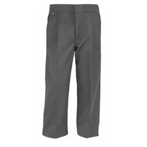Boys School Trousers Zipfly Elasticated//Teflon with side pockets